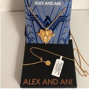 Alex and Ani Gold Wonder Woman Necklace SS 14K NWT